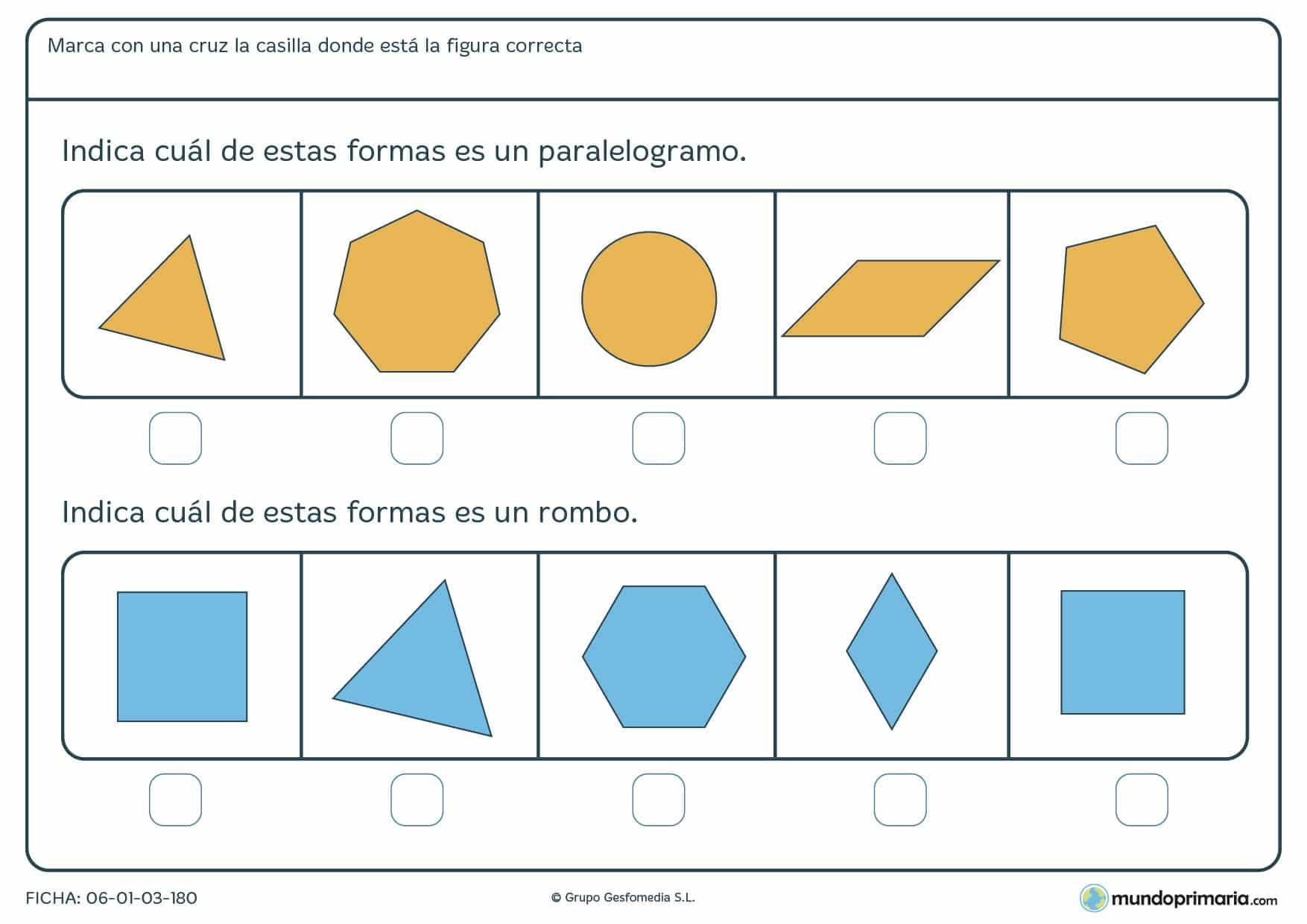Ejercicios geometría para cuarto primaria