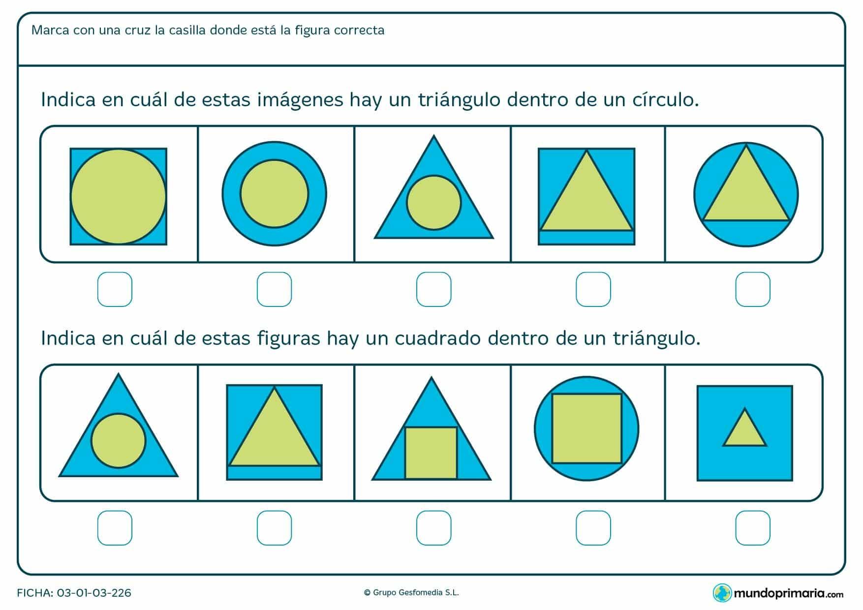 Ejercicios geometría para primero primaria