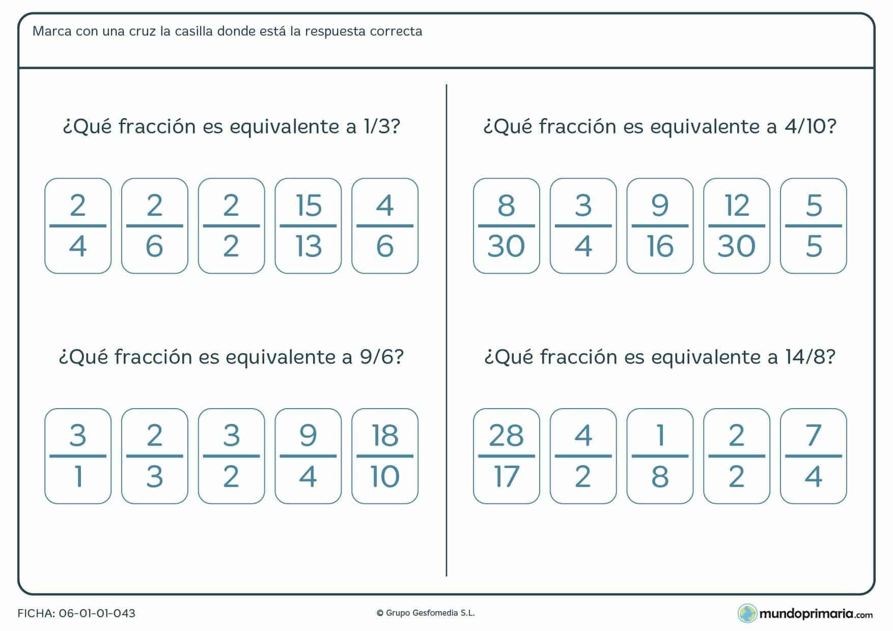 Fracciones Cuarto De Primaria Ejercicios – Solo otra idea de imagen ...