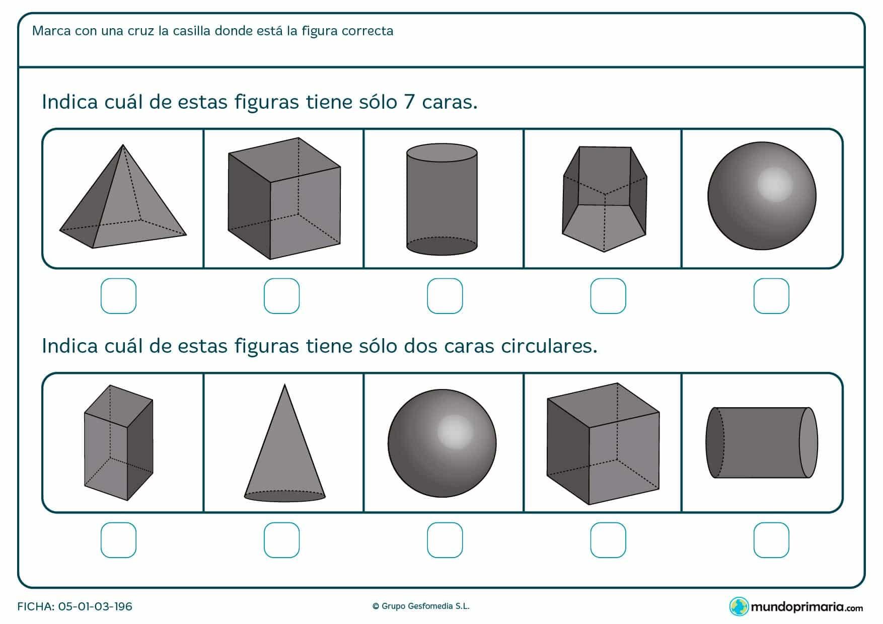 Elige las figuras geométricas que pidan los enunciados.