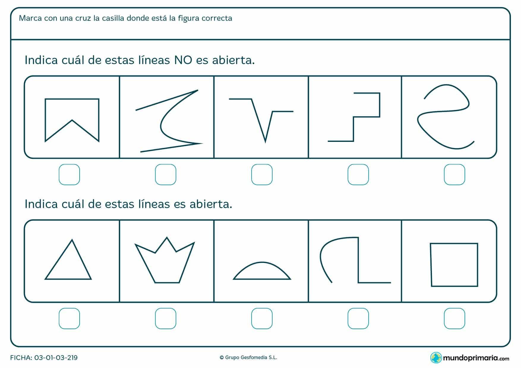 Ficha de objetos cerrados en el que hay que indicar cuál es la respuesta correcta de las opciones proporcionadas.