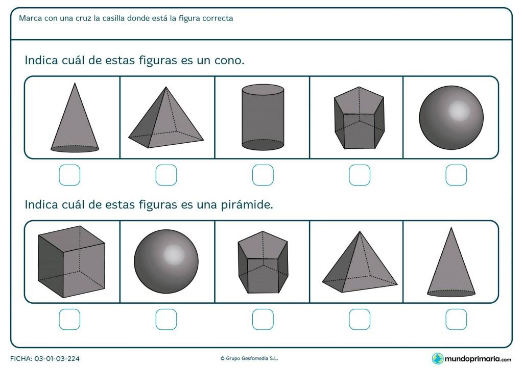 Ficha de planos piramidáles para primaria