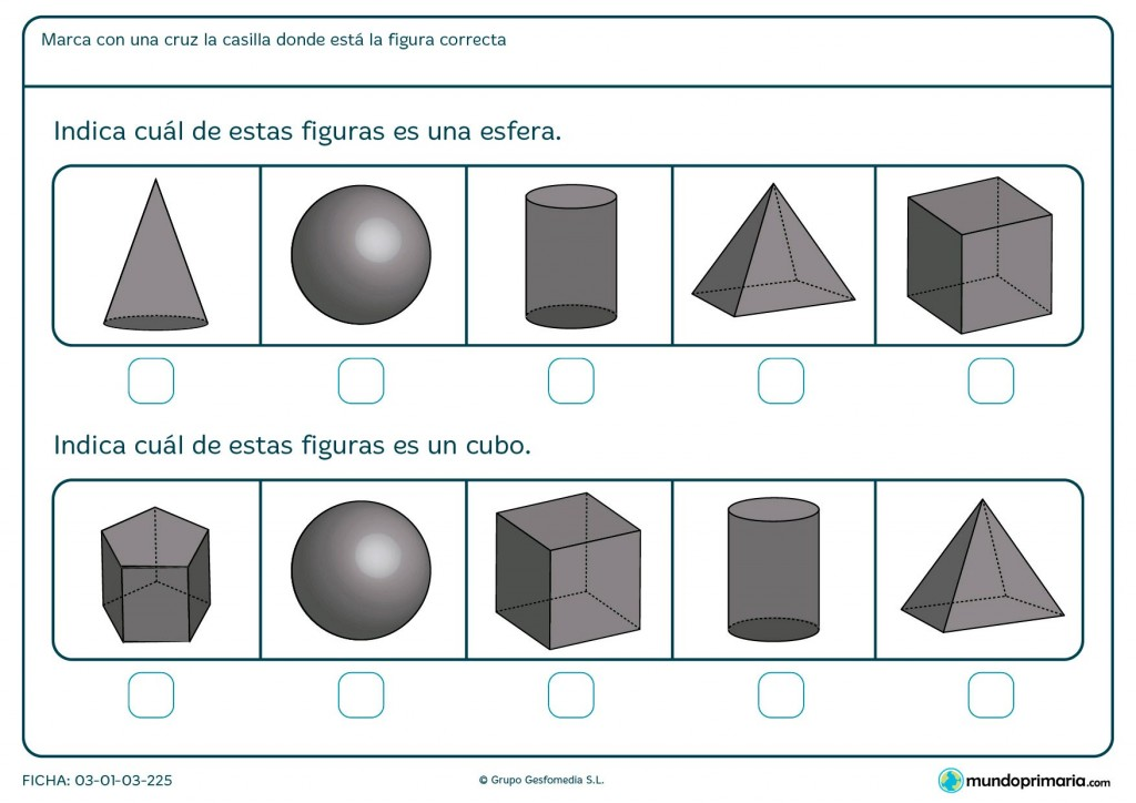 Ficha de poliedros para 1º de primaria
