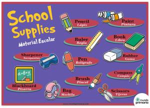 Material escolar en inglés: Infografía