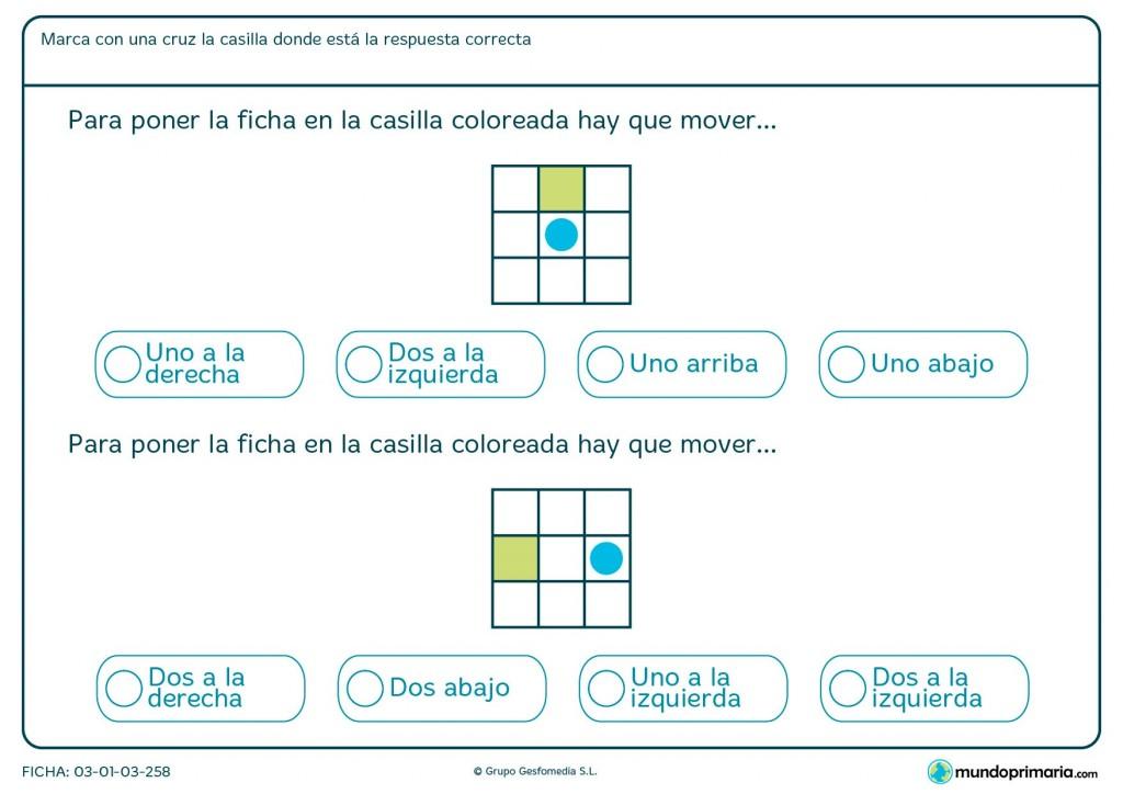Ficha de contar posiciones para primaria