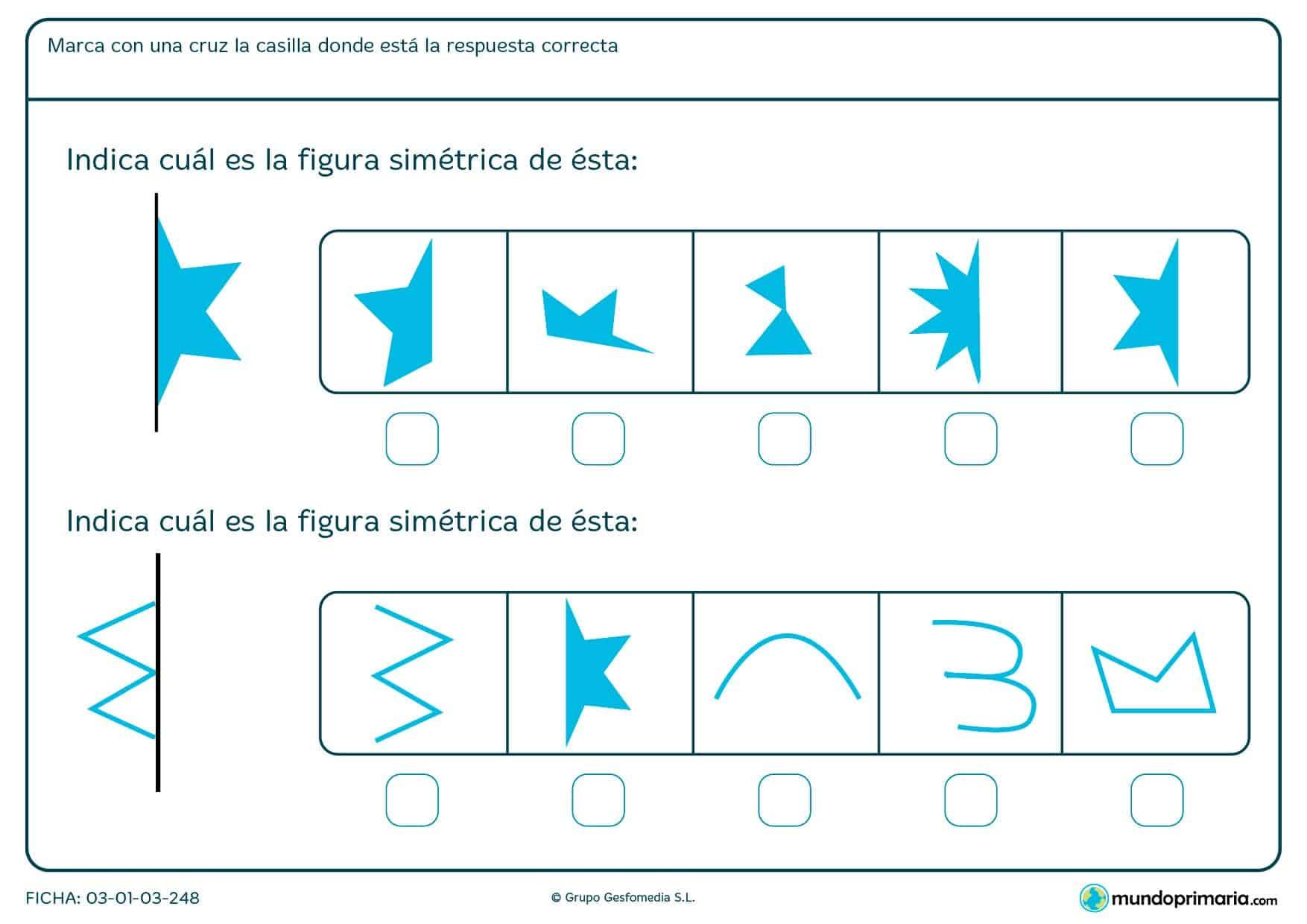 ¿Qué mitad encaja con la figura de la izquierda? Estudia los lados y la forma para descubrirlo.