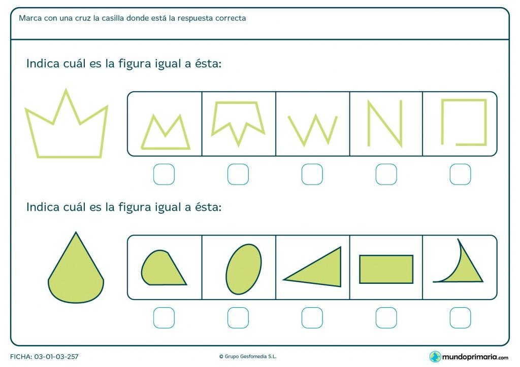 Ficha de indicar formas para primaria