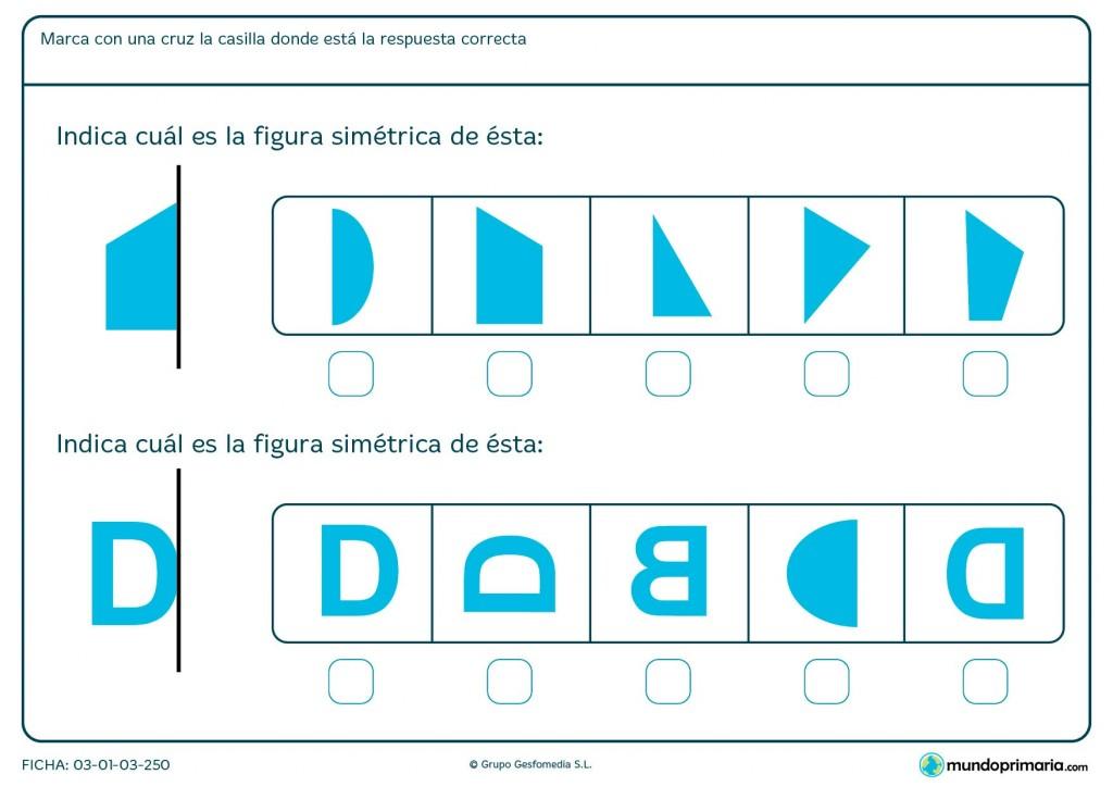 Fichas de observar simetría para primaria