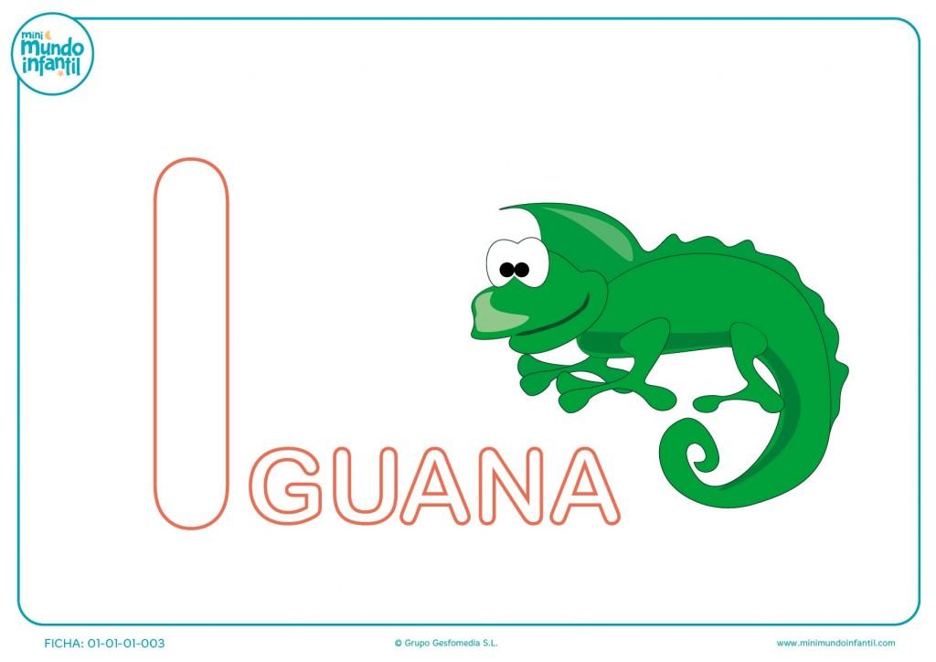 Pintar la letra I de iguana