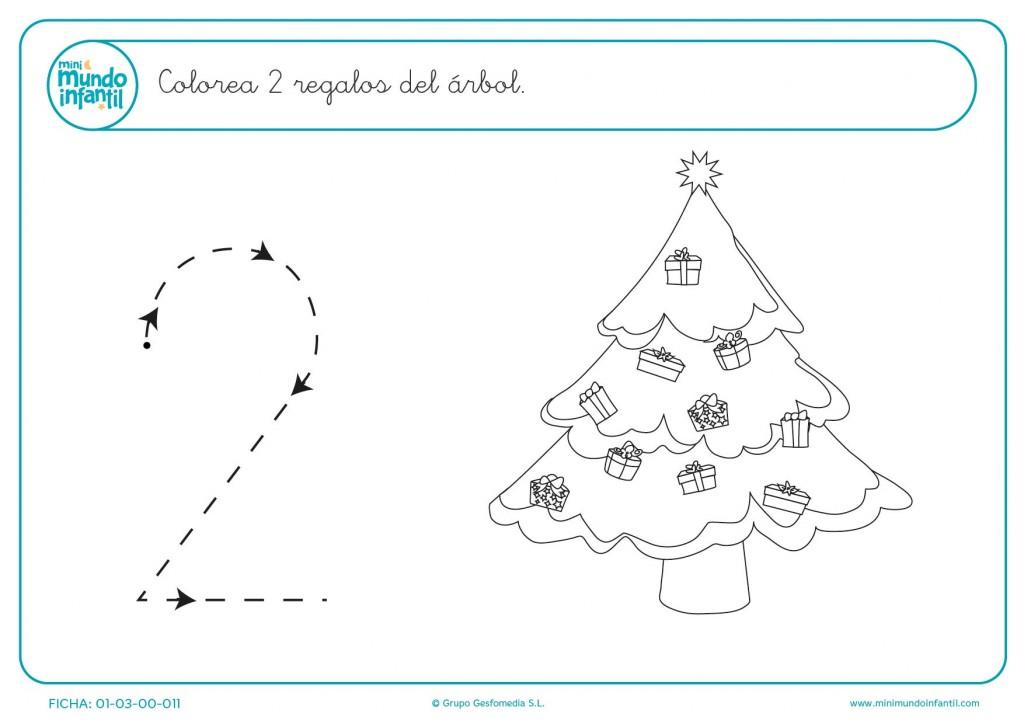 Pintar 2 regalos del árbol de navidad