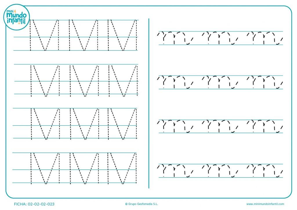 Aprende la consonante M mayúscula y minúscula con este ejercicio