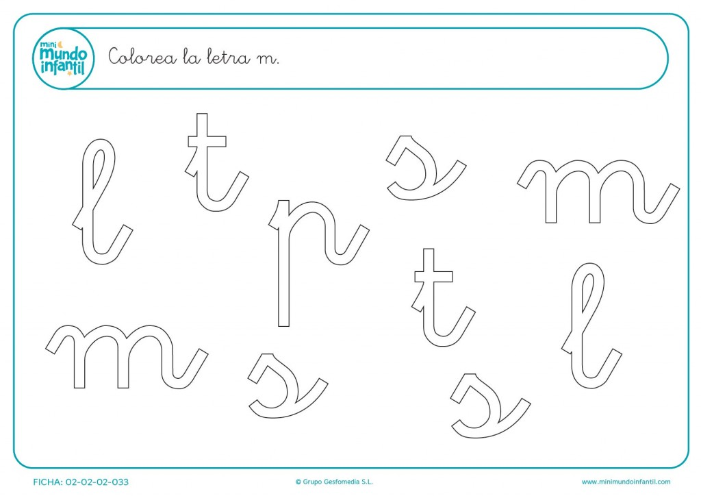 Distinguir las letras y colorear solo las letras m minúsculas