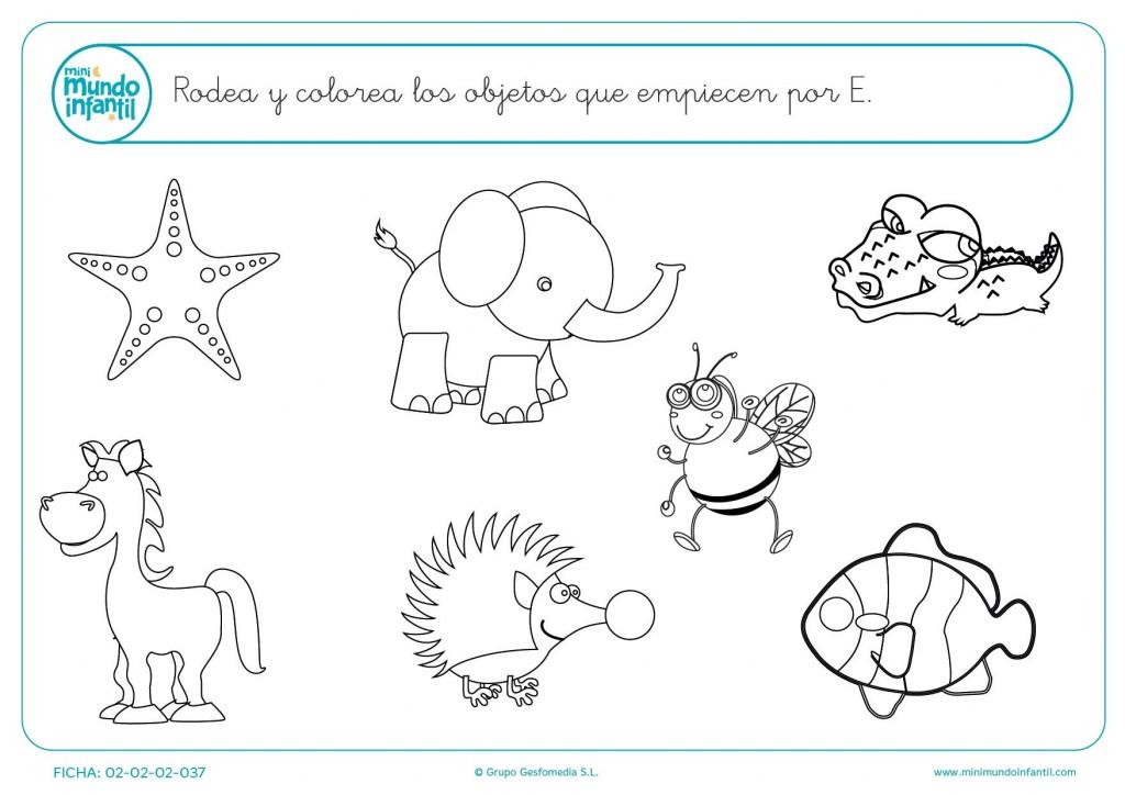 Dibujos Para Colorear Que Empiecen Con La Letra E