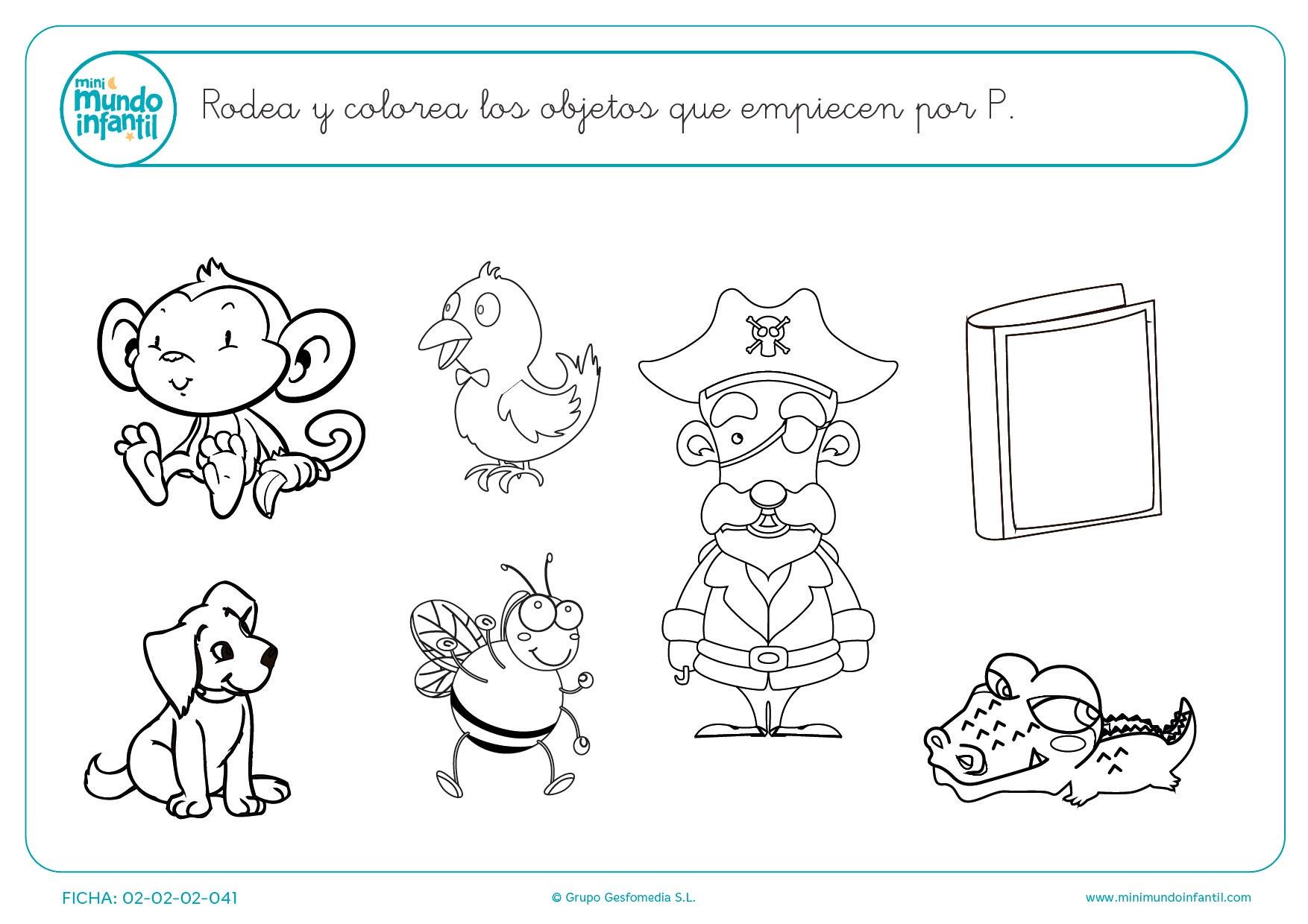 Dibujos Para Colorear Letra Q: Objetos Para Colorear Que Empiecen Con La Letra O