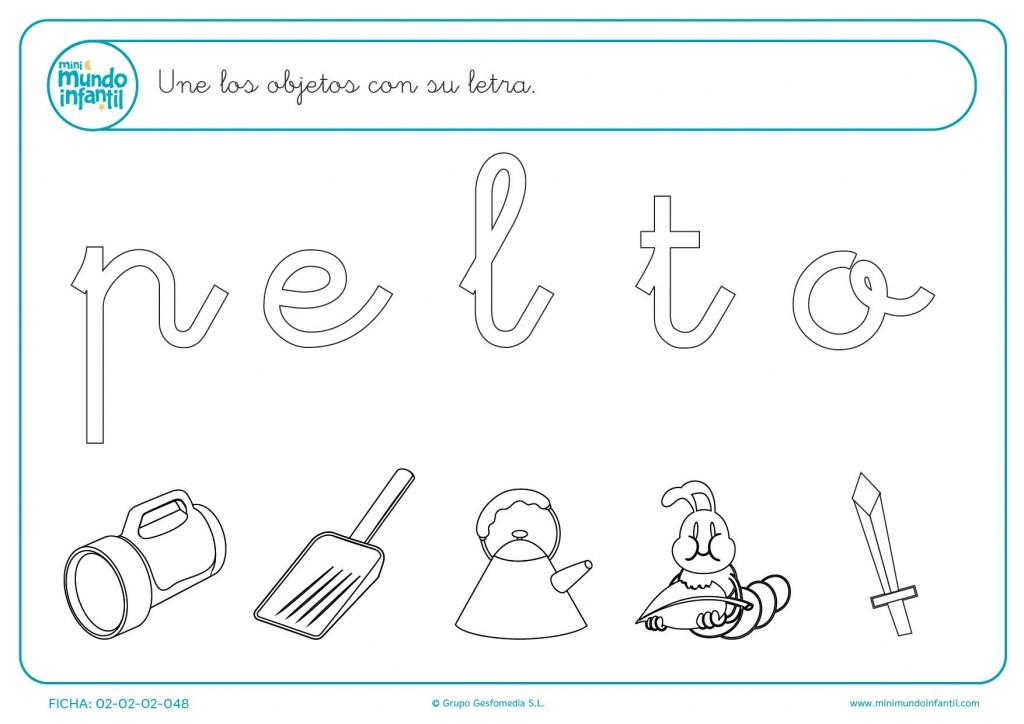 Une las vocales y consonantes con su imagen correspondiente