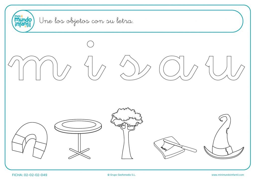 Unir los objetos con su letra de inicio