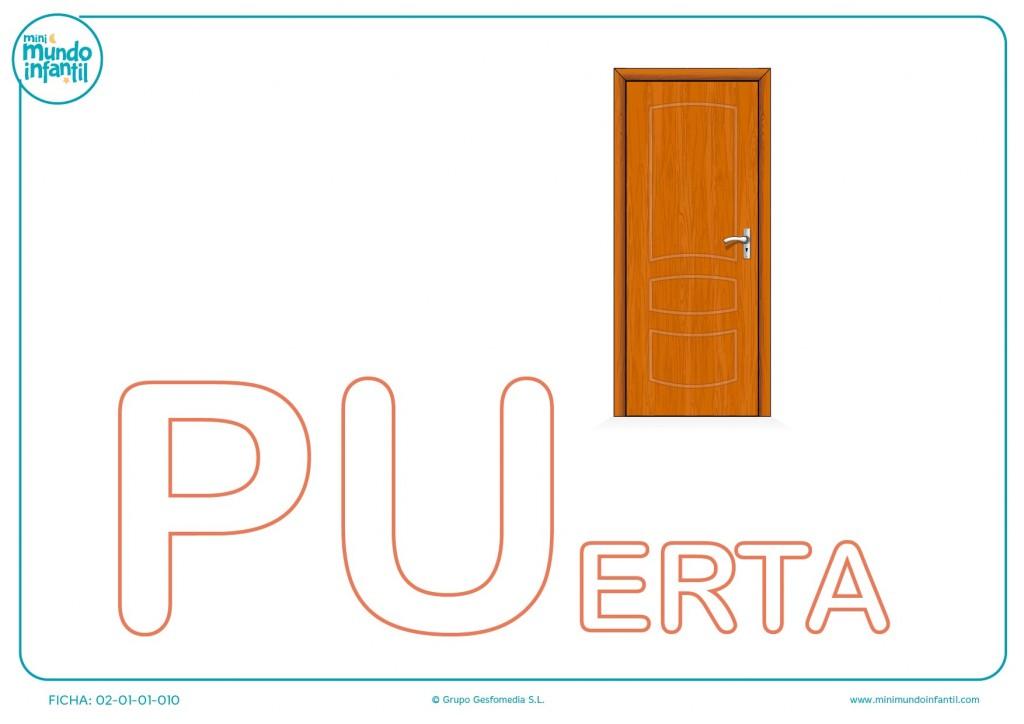 Poner color a las letras PU de puerta en mayúsculas