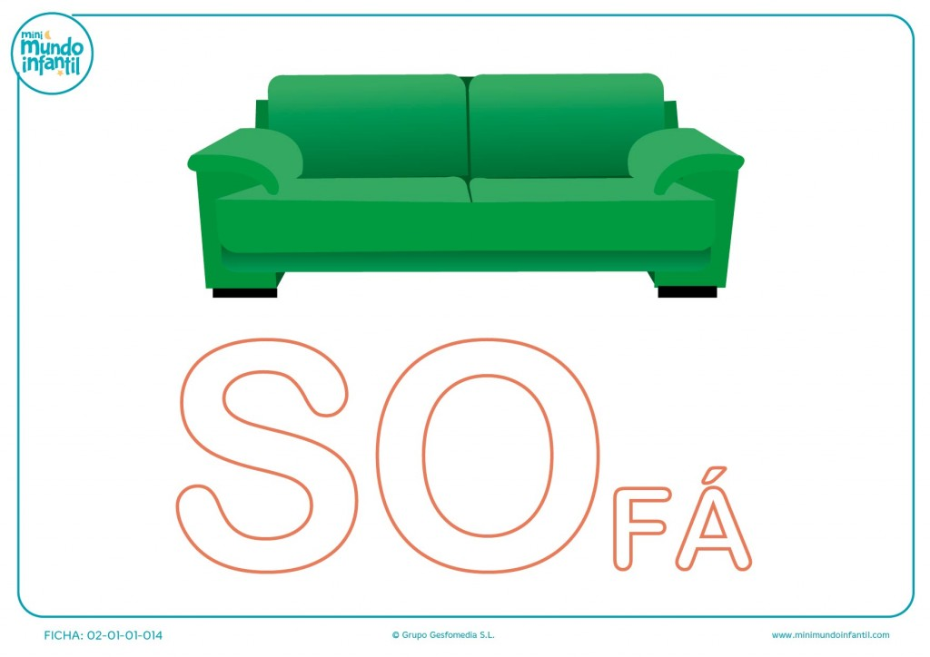 Completar las letras SO de sofá en mayúsculas
