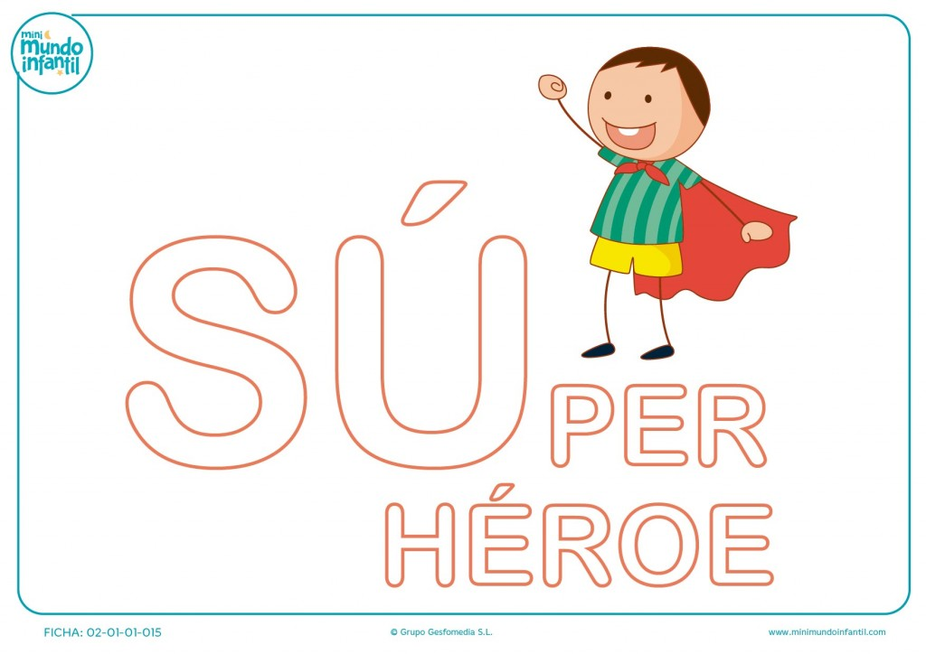 Poner color a las letras SU de súper héroe en mayúsculas