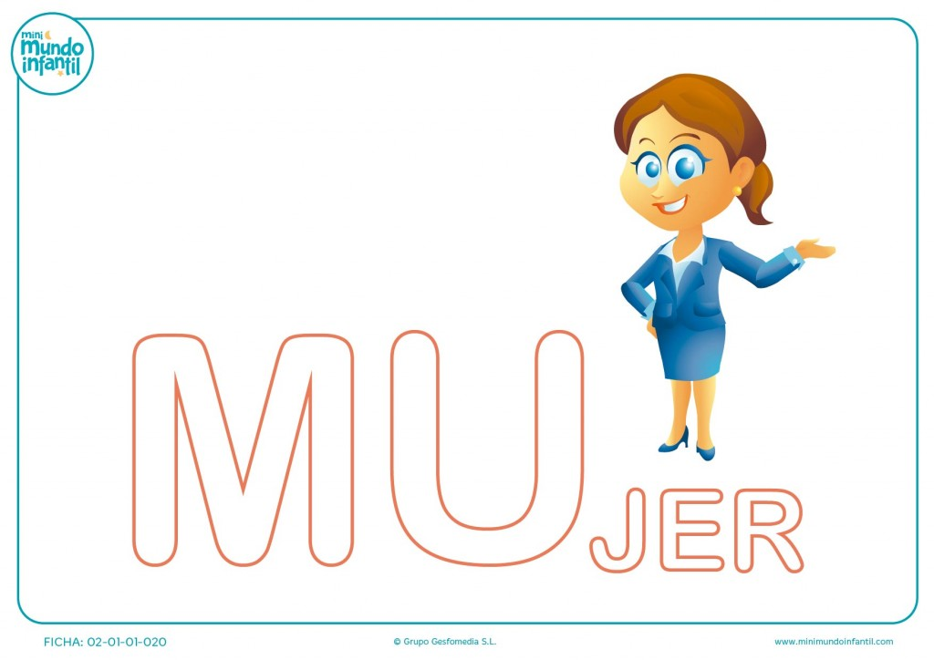 Poner color a las letras MU de mujer en mayúsculas