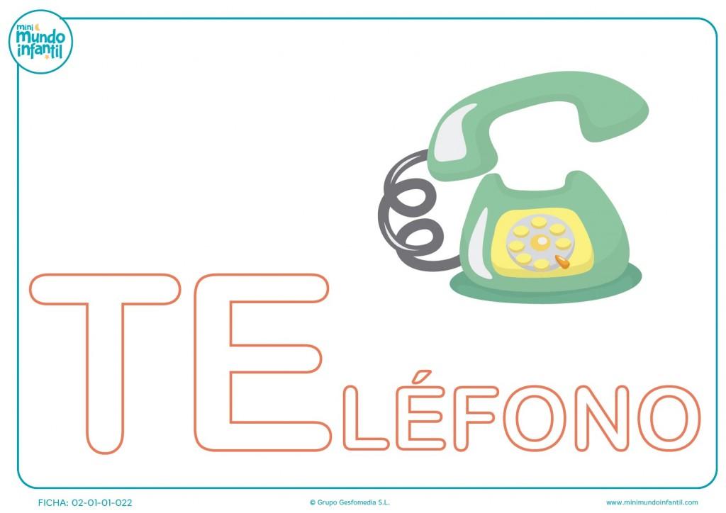 Rellenar las letras TE de teléfono en mayúsculas