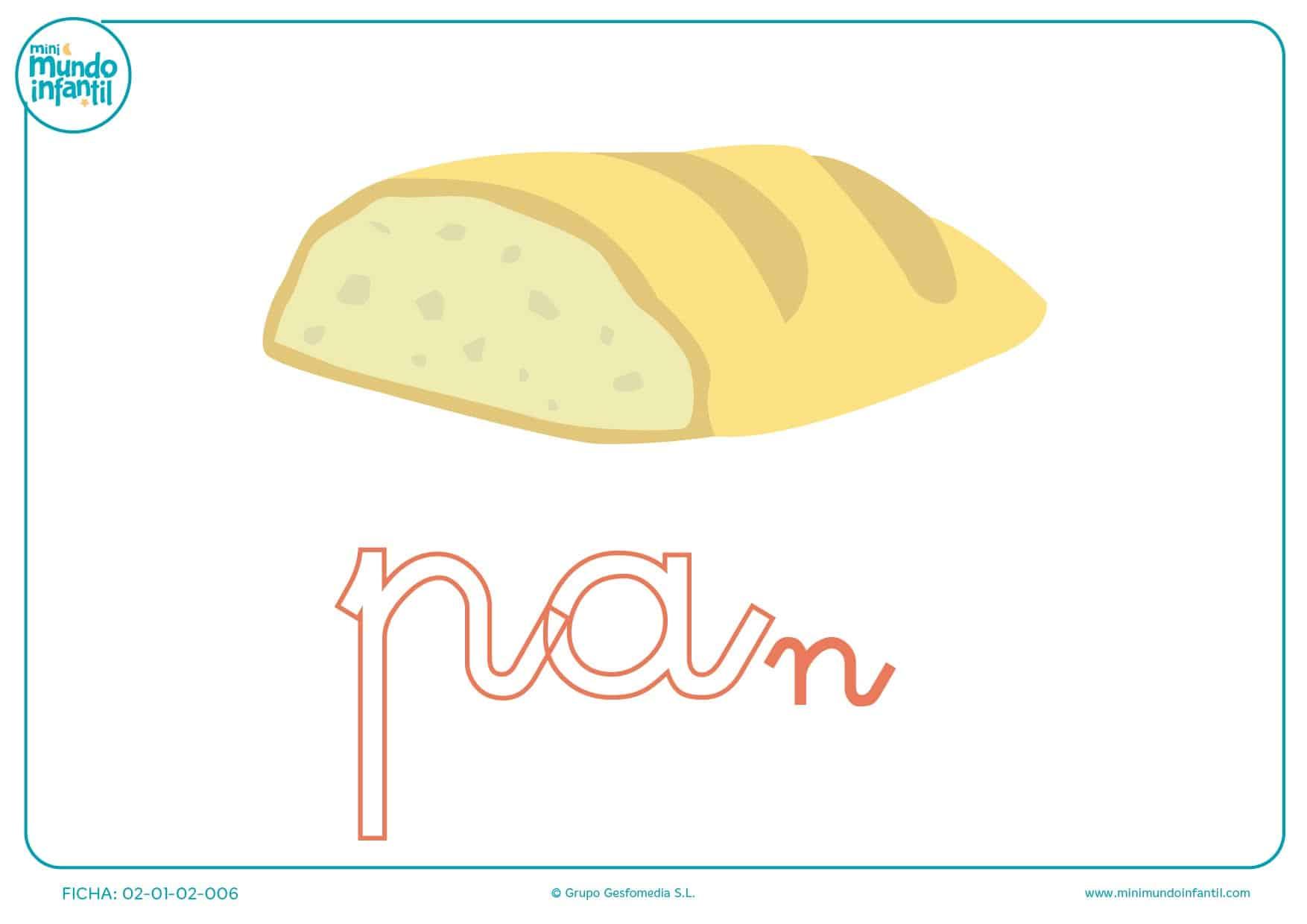 Letras pa de pan en minúsculas para colorear