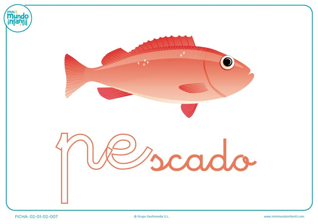 Letras pe de pescado en minúsculas para rellenar