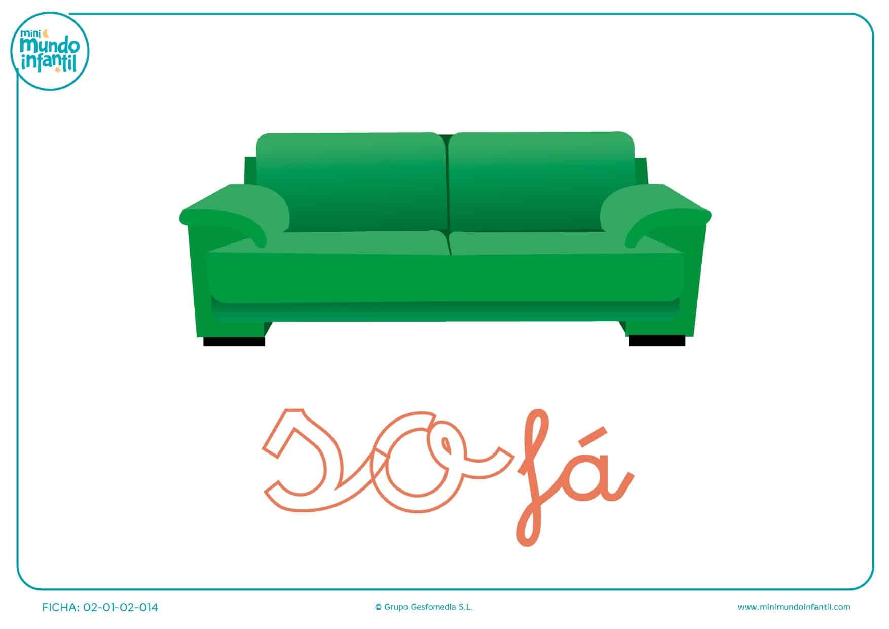 Letras so de sofá en minúsculas para completar