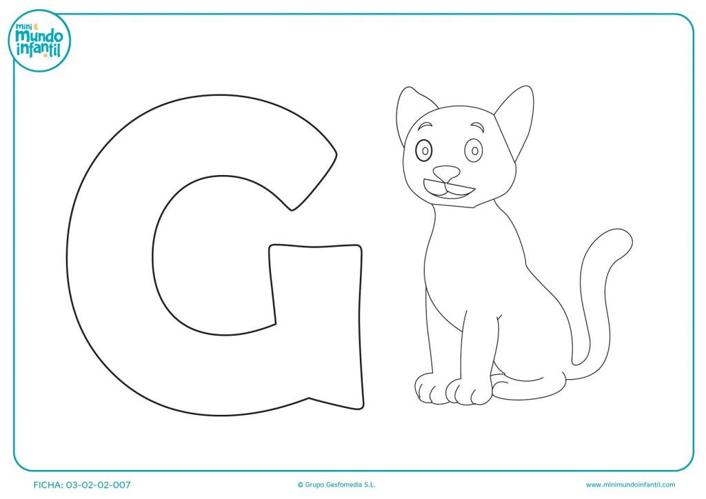 Rellenar con color la letra G
