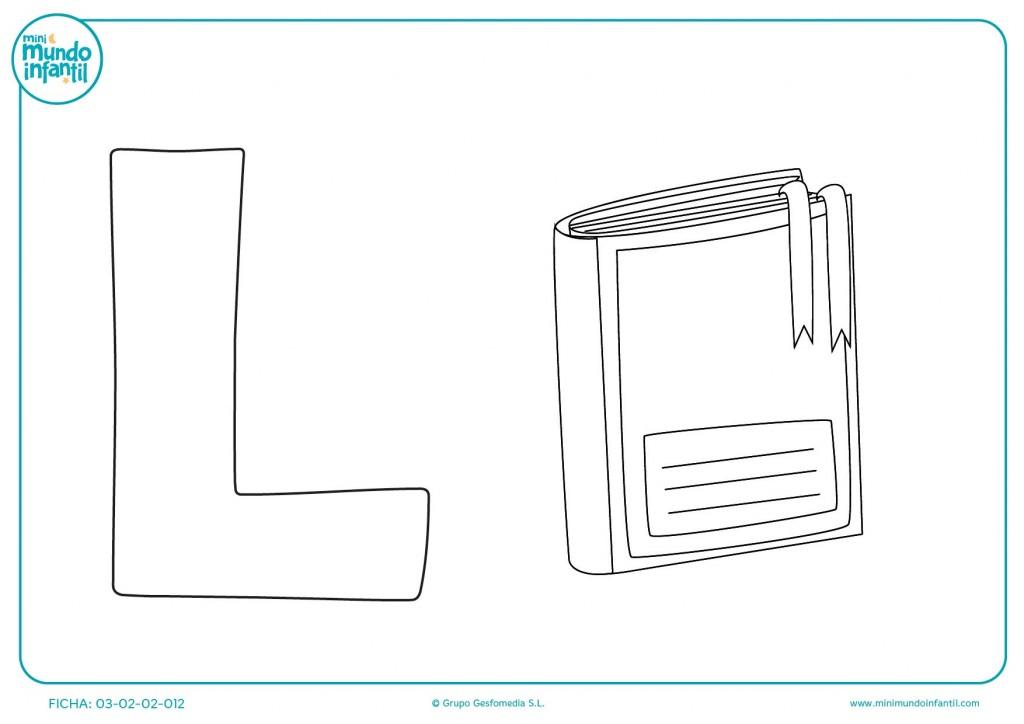 Trazar y colorear la letra L
