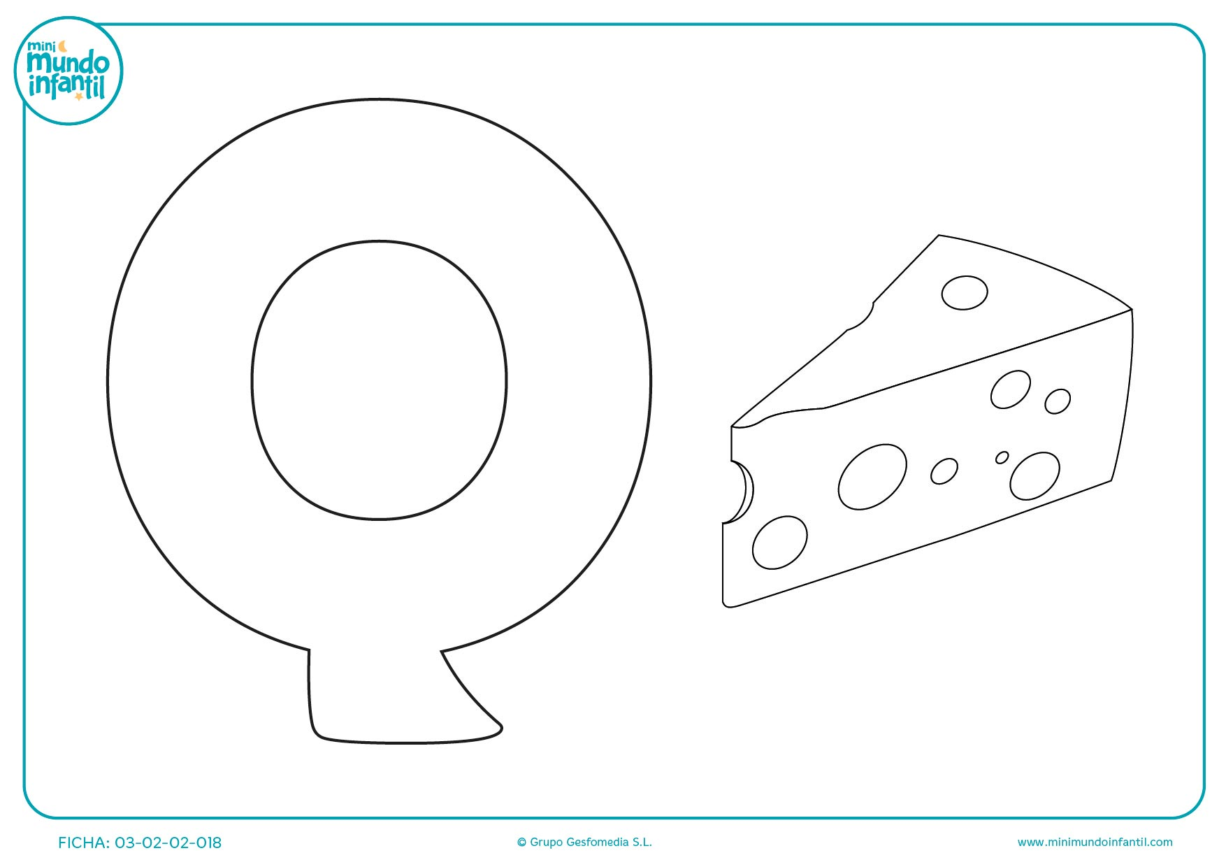 La Q es de queso y con esta lámina puedes aprender a escribirla