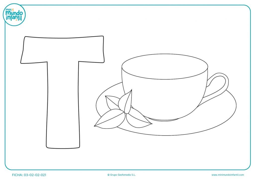 Escribir y pintar la letra T
