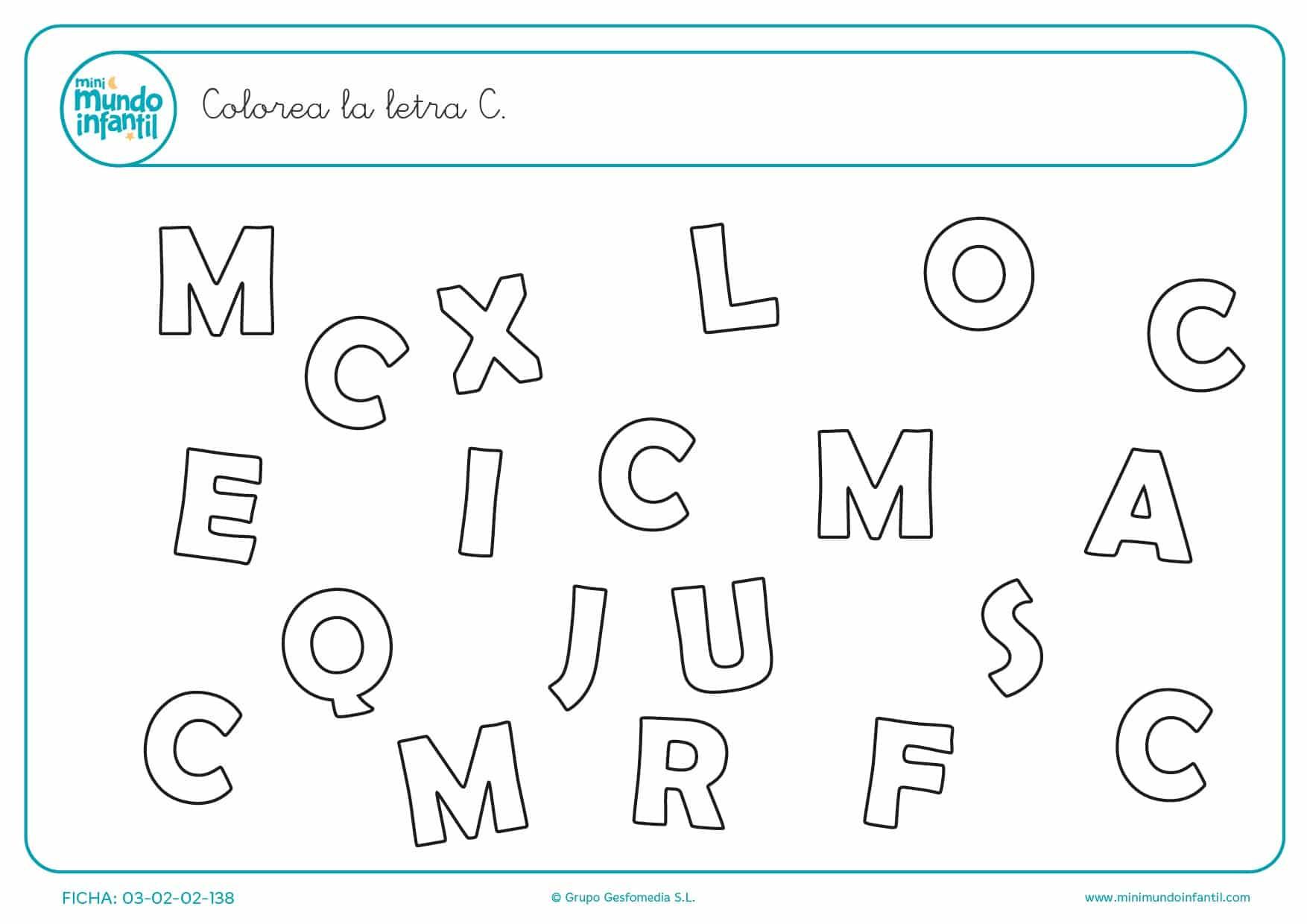 Poner color a la letra C en mayúsculas