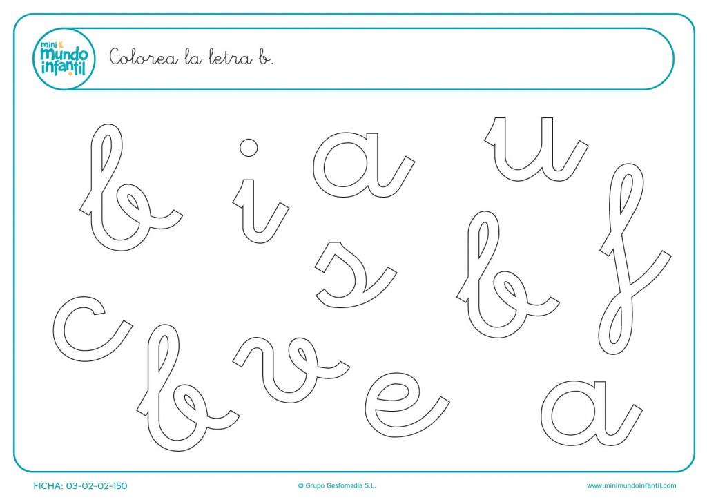 Rellenar con color la letra c en minúsculas