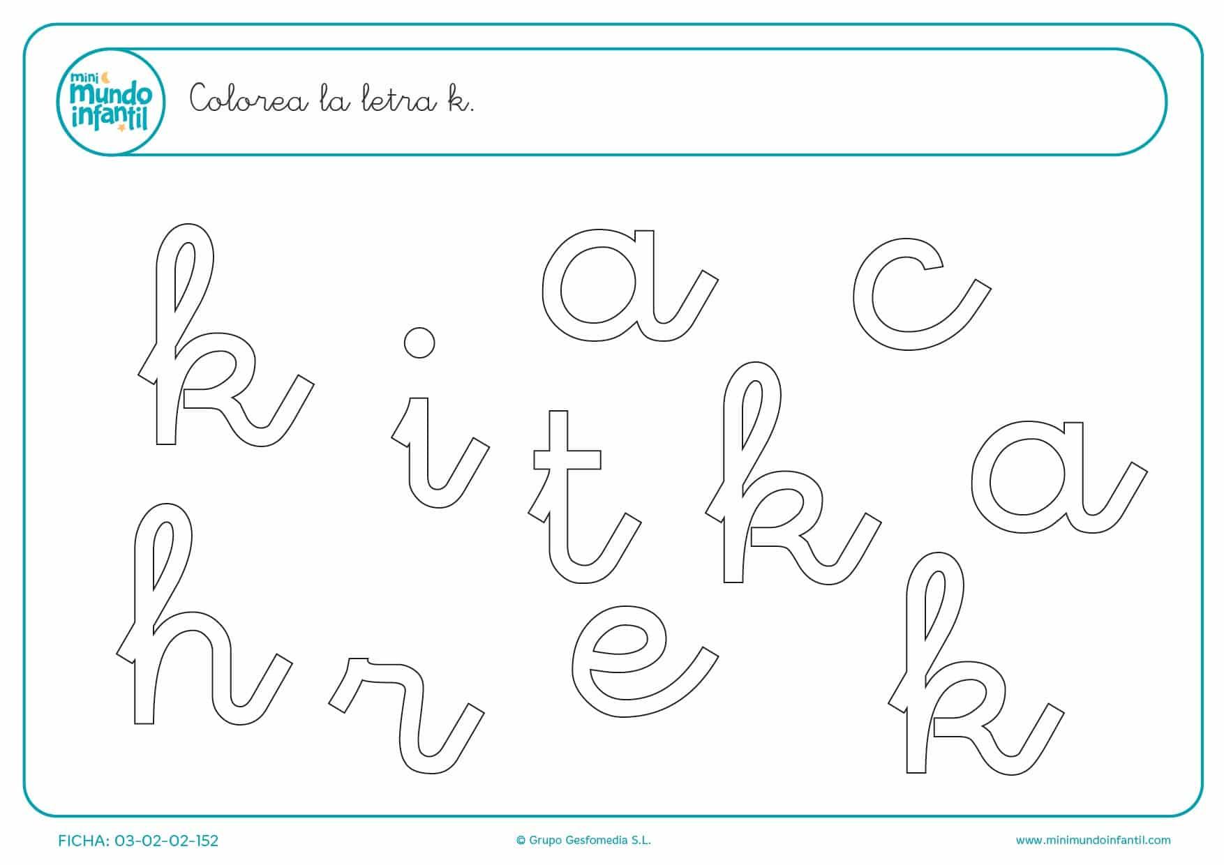 Buscar y pintar la letra K en minúsculas