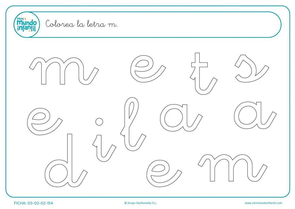 Buscar y poner color a la letra m en minúsculas
