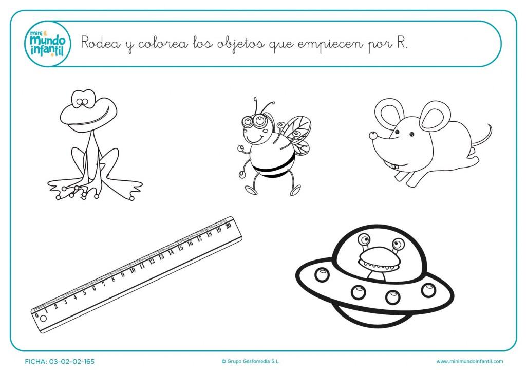 Dibujos Para Colorear Que Empiecen Con La Letra A: Cosas Que Empiecen Por R Para Colorear