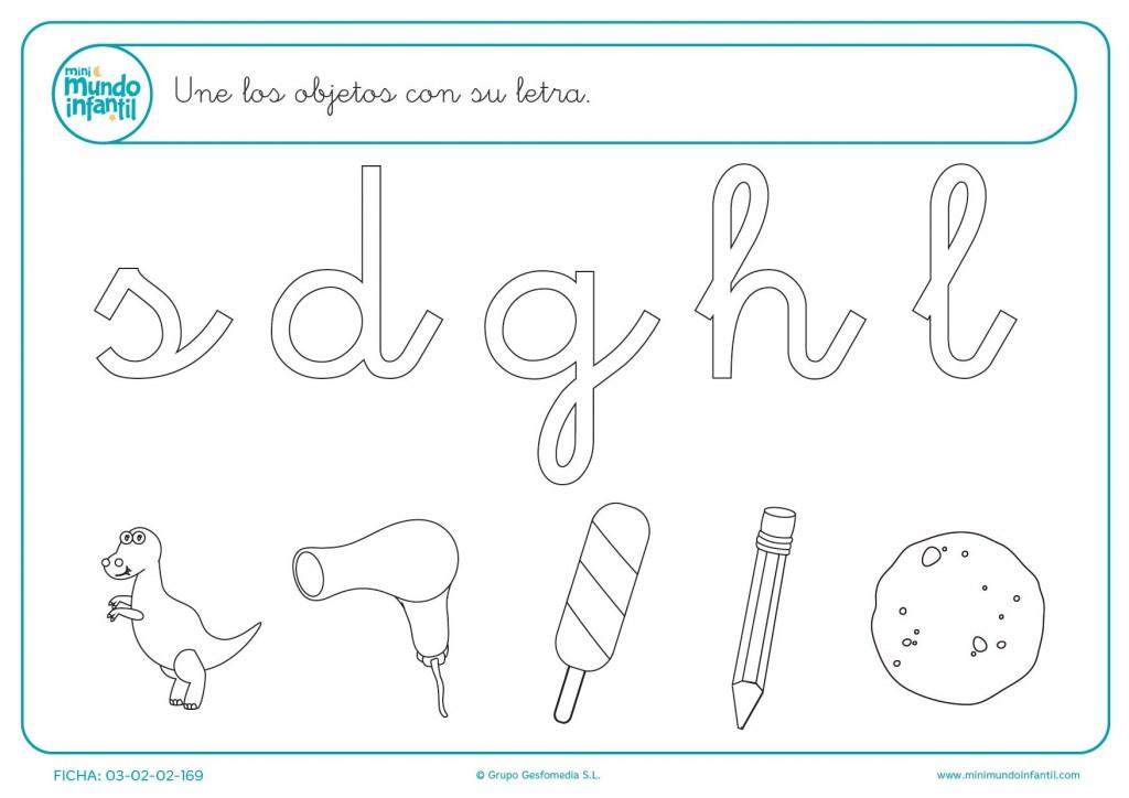 Unir los objetos con su letra