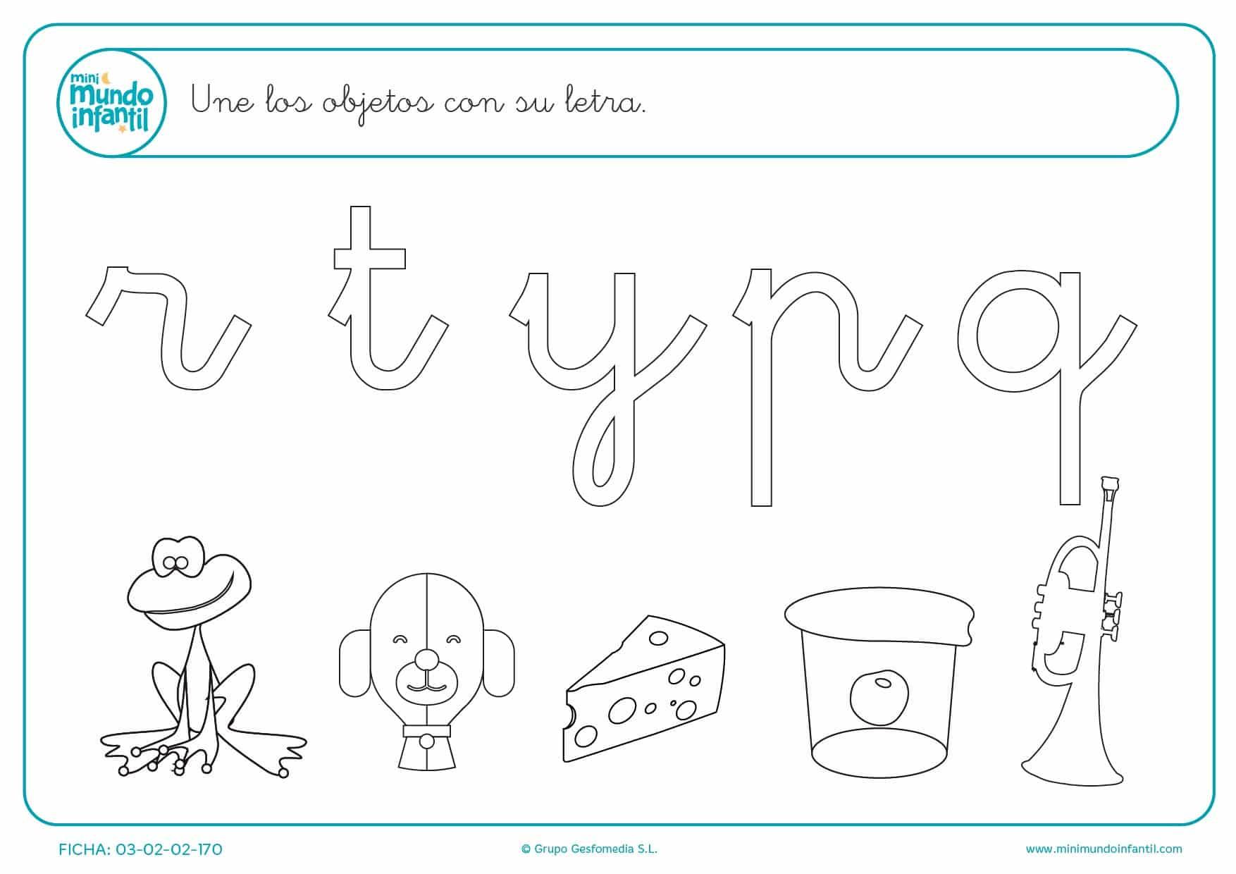 Señalar cada objeto con su letra