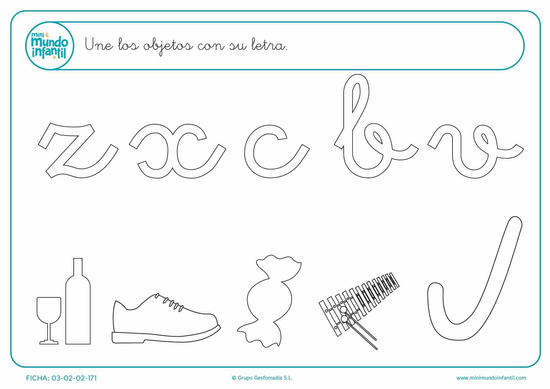 Hacer una línea entre el objeto y su letra