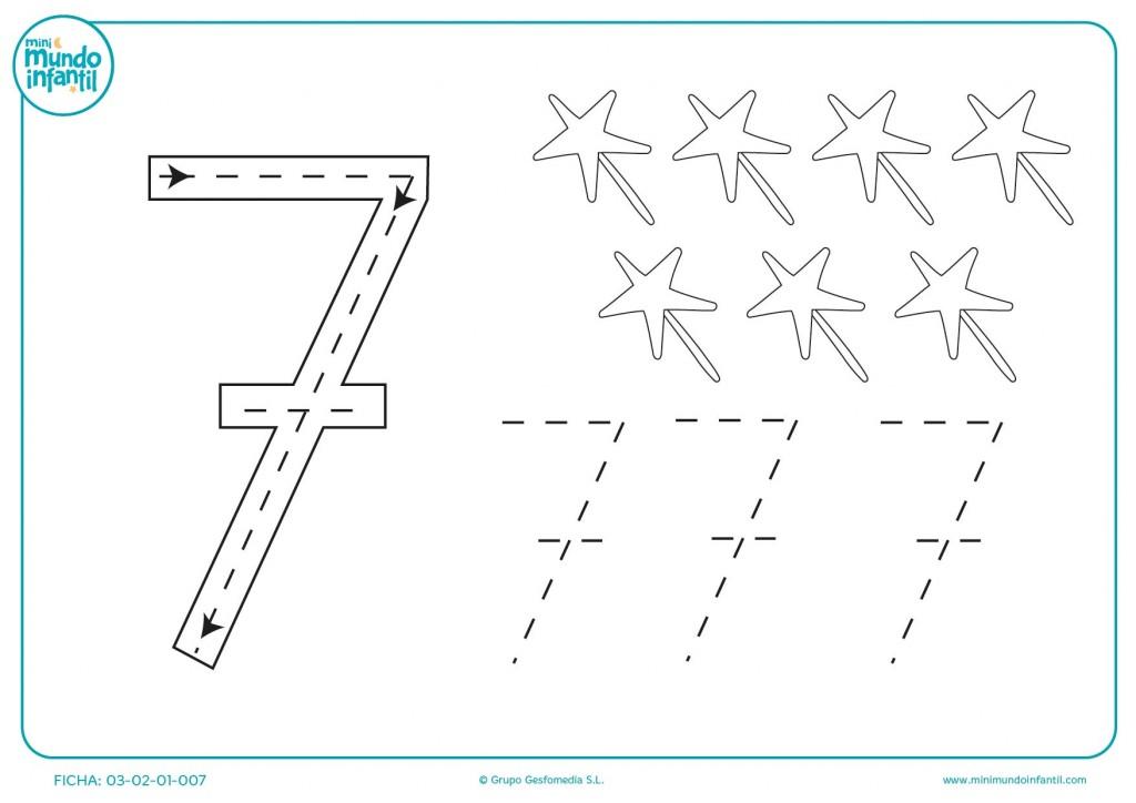 Dibujar y completar esta plantilla numérica para educación infantil