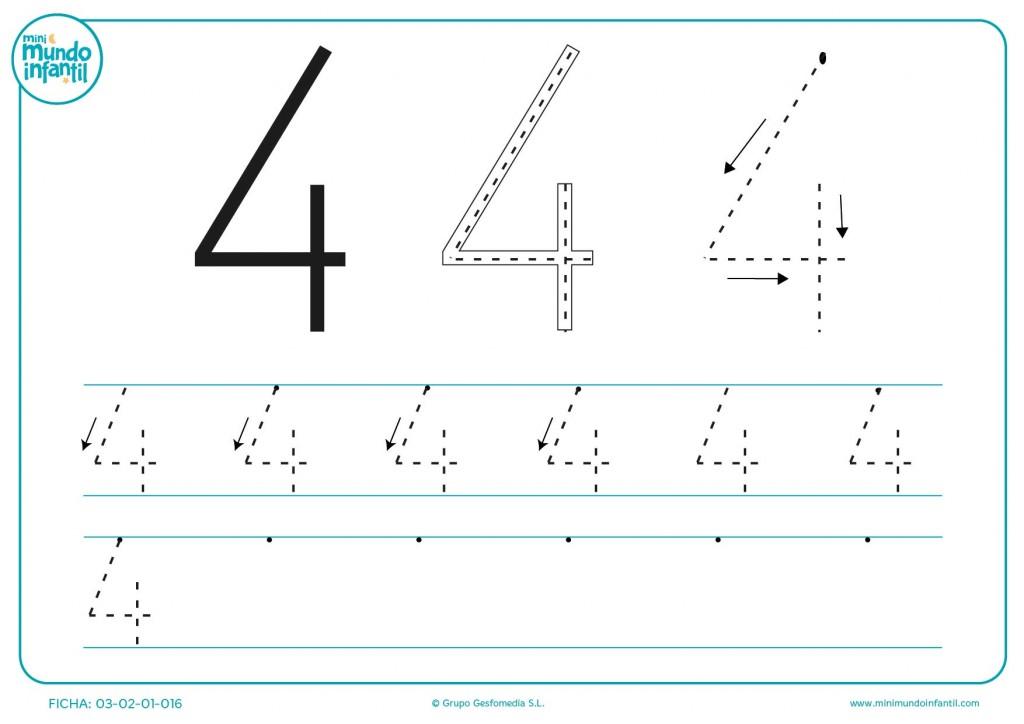 Juega con el número 4 con combinaciones diferentes de puntos