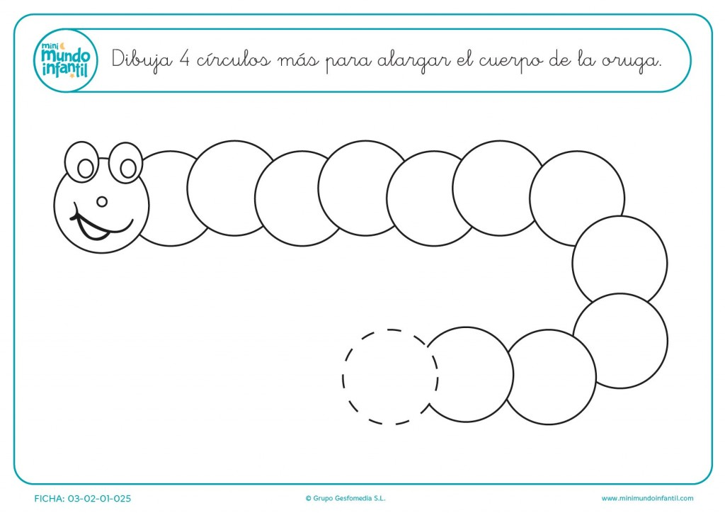 Continua la serie de los círculos e interactúa con el animal