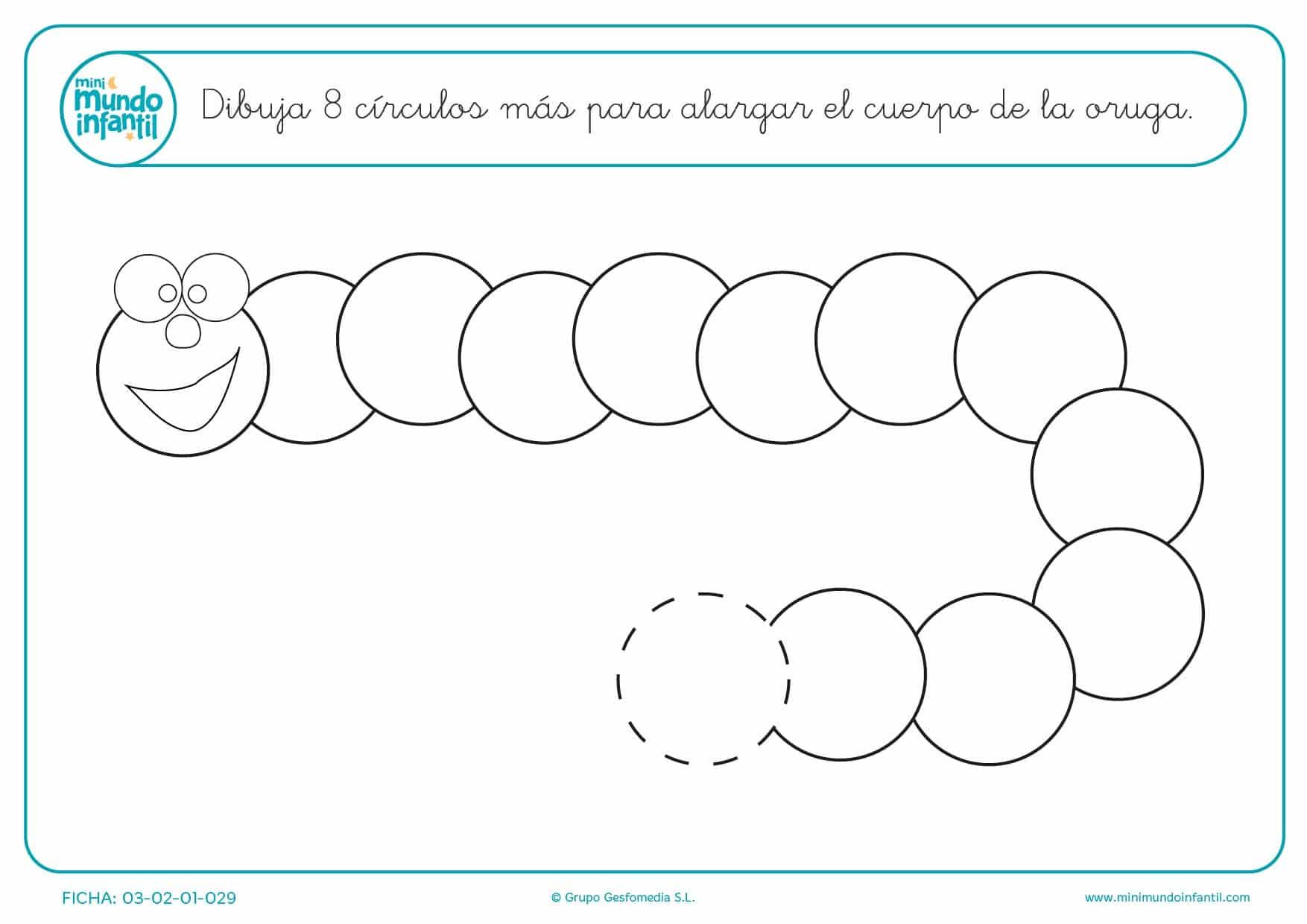 Actividad para completar la imagen mediante trazos circulares