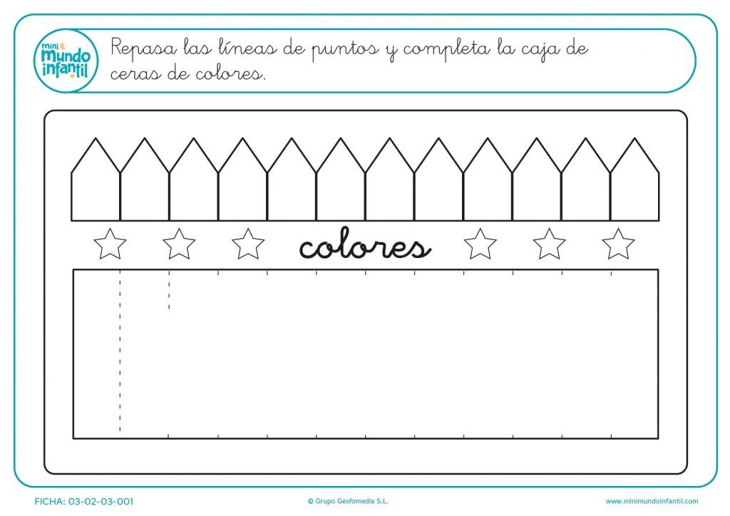 Haz la caja de colores para pequeños de educación infantil