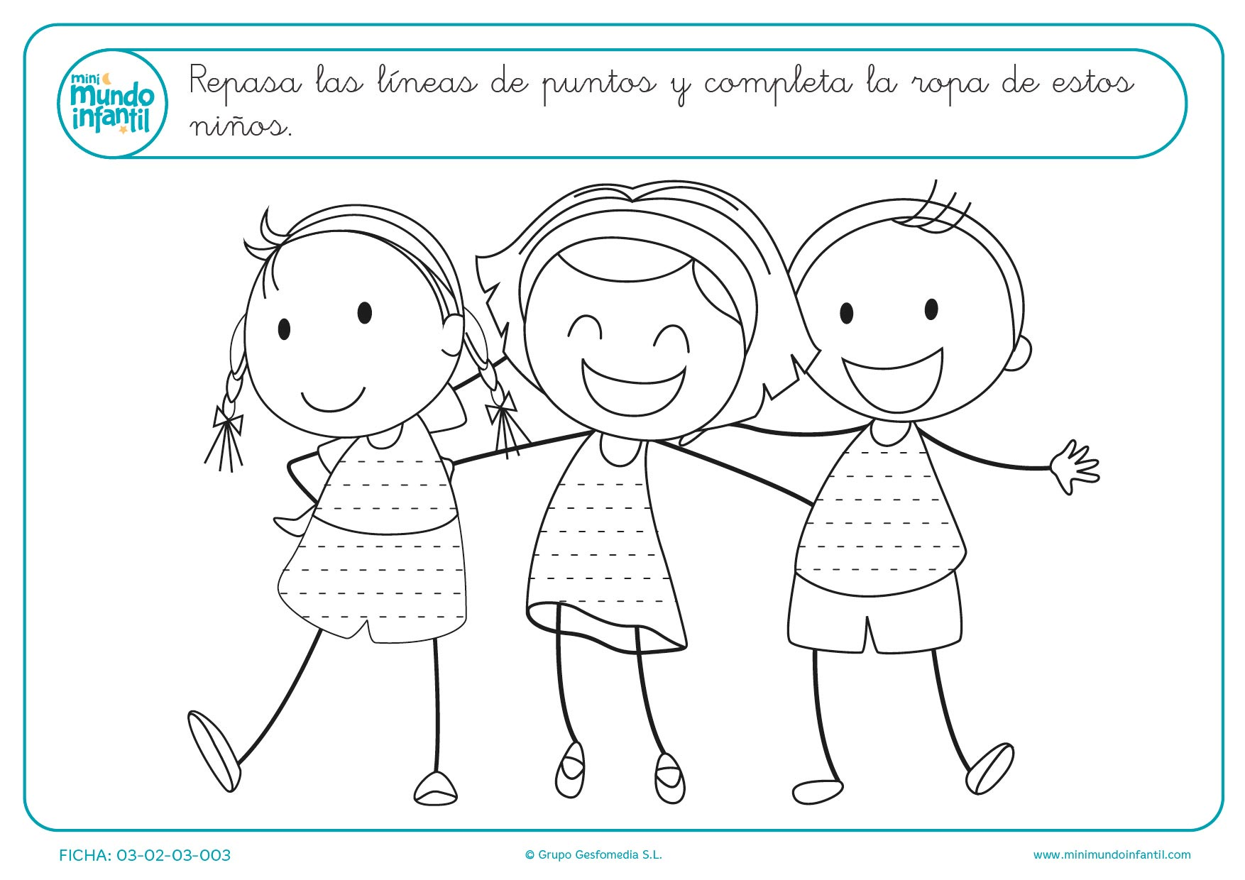 Trazar líneas horizontales para completar el dibujo