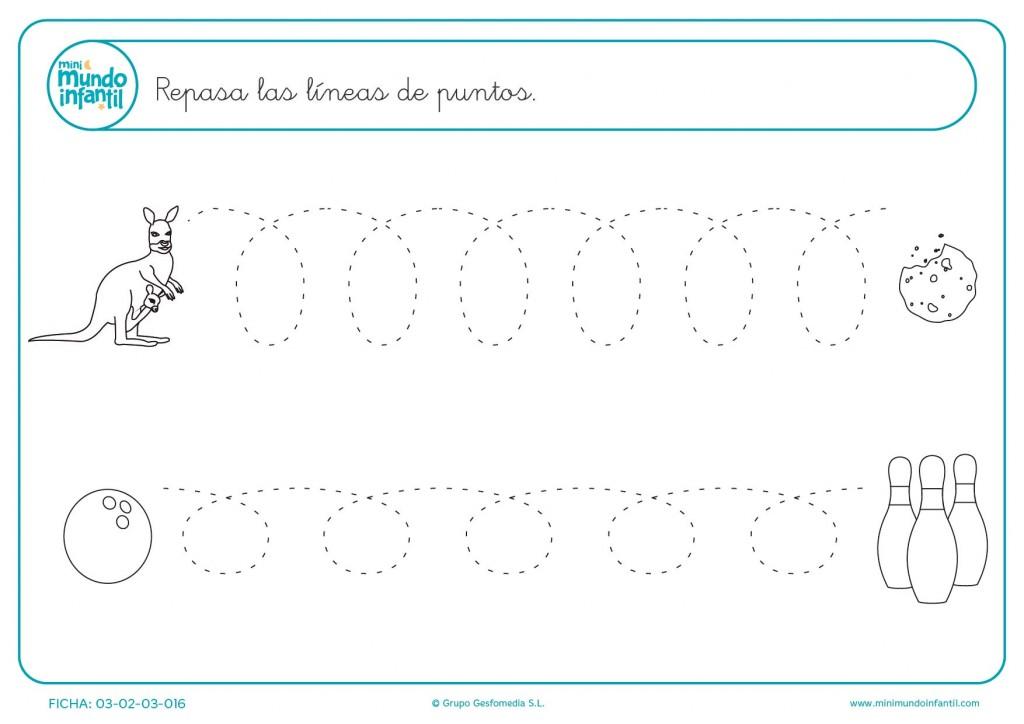 Continuar la serie de líneas para aprender líneas onduladas