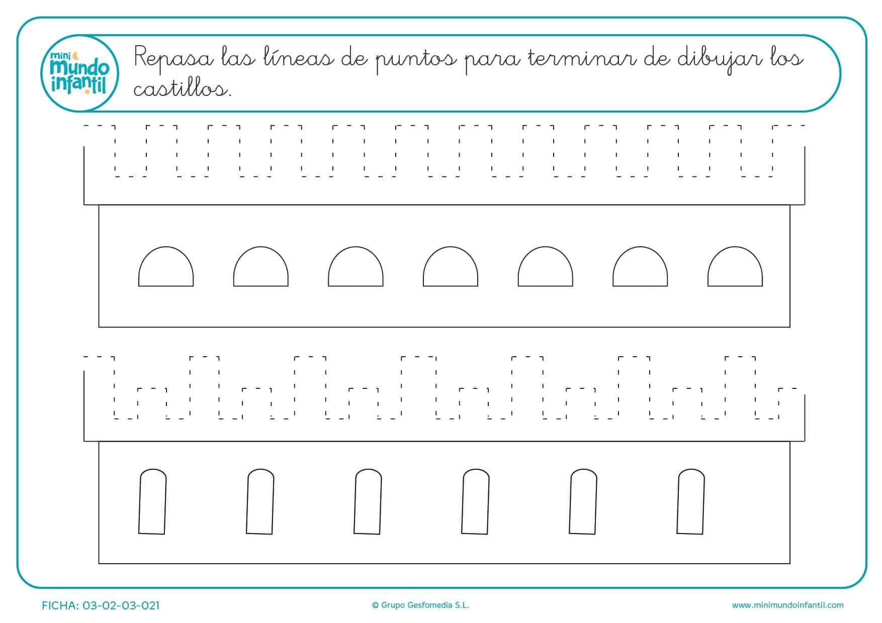 Continuar la serie de líneas verticales y horizontales