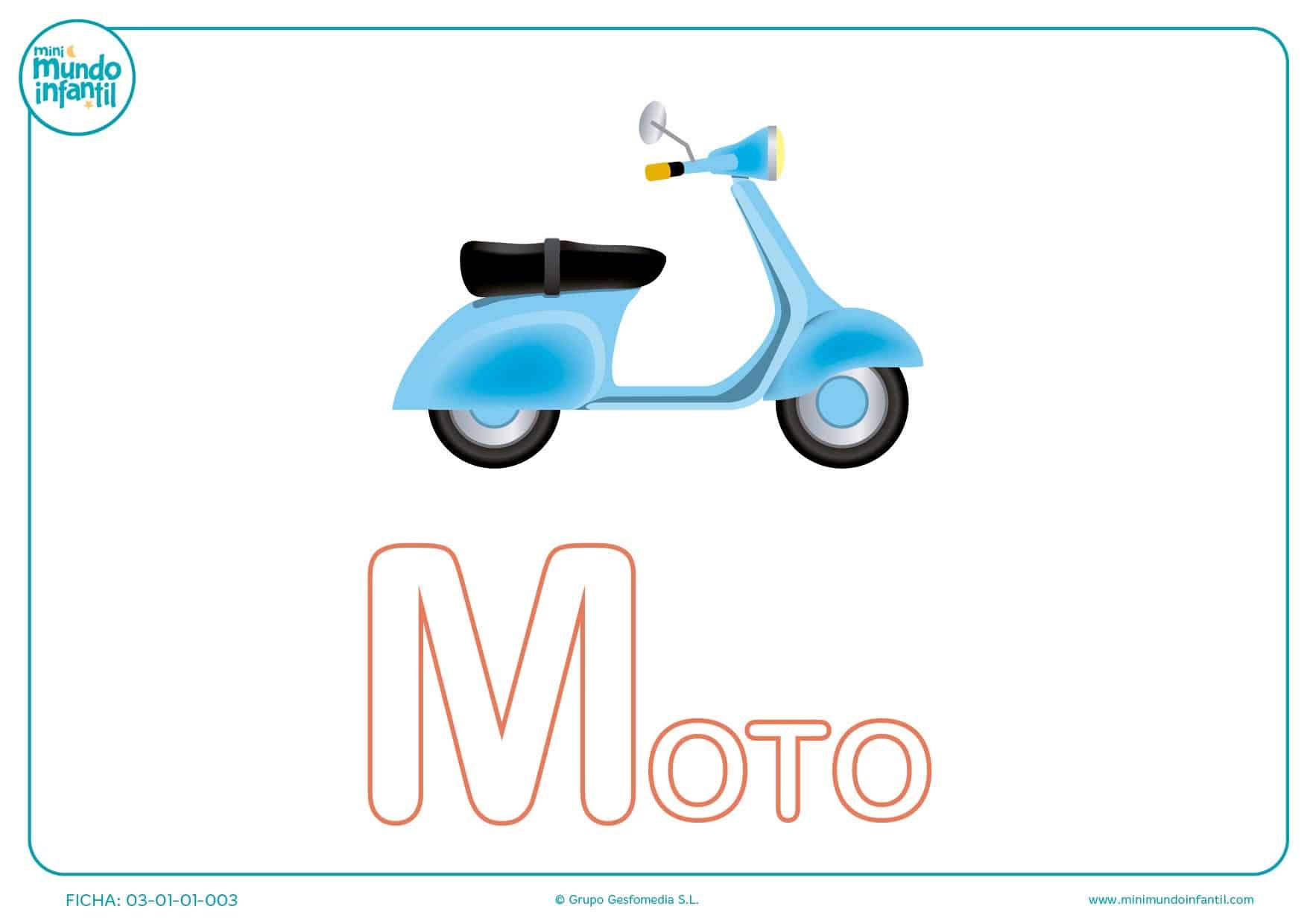 Pintar la letra M mayúscula de moto