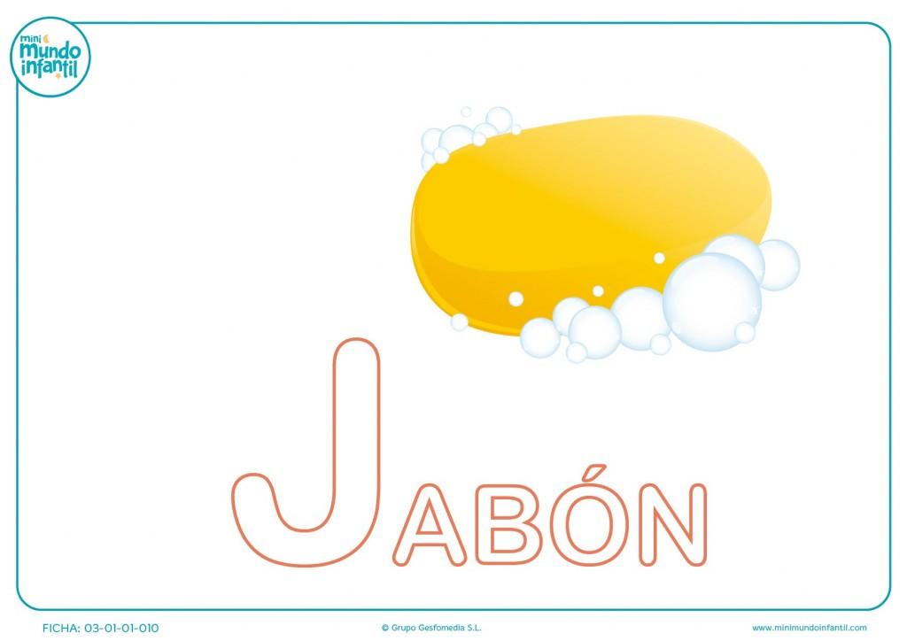 Completar la letra J mayúscula de jabón